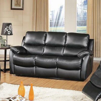CST39142 28021511 CST39142 Wildon Home Brett Top Grain Leather Reclining Sofa