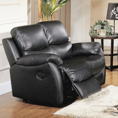 CST39141 28021510 CST39141 Wildon Home Brett Top Grain Leather Reclining Loveseat