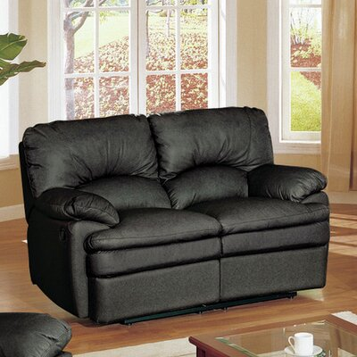 Haines Top Grain Leather Reclining Loveseat