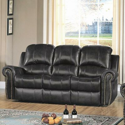 CST39143 28021512 CST39143 Wildon Home Gretna Top Grain Leather Reclining Sofa