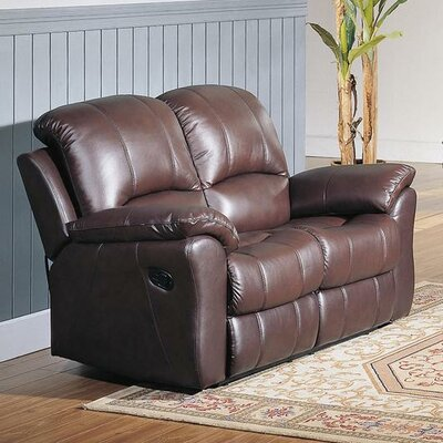 Kent Top Grain Leather Reclining Loveseat