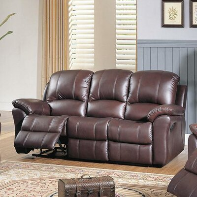 CST39146 28021515 CST39146 Wildon Home Kent Top Grain Leather Reclining Sofa