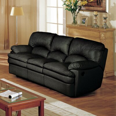 Haines Top Grain Leather Reclining Sofa