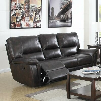 Galaxy Reclining Sofa Upholstery: Brown