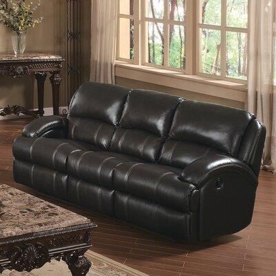 Capri Reclining Sofa Upholstery: Black