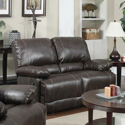 Dalton Reclining Loveseat Upholstery: Brown