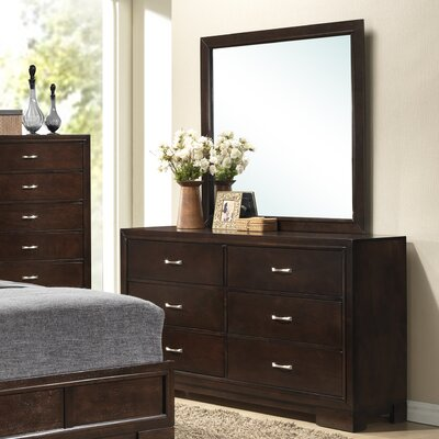 Tahoe 6 Drawer Dresser with Mirror