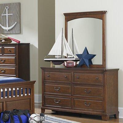 Furniture-Tyler 6 Drawer Dresser with Mirror