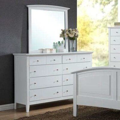 Sharpsburg 8 Drawer Dresser with Mirror