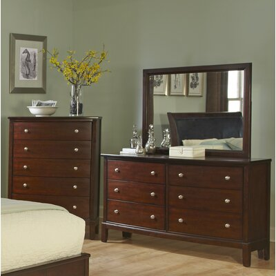 Denver 6 Drawer Dresser with Mirror