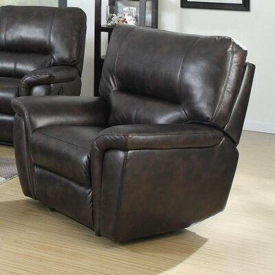 Galaxy Manual Recliner Upholstery: Brown