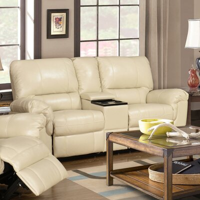 Ramon Reclining Sofa Upholstery: Cream