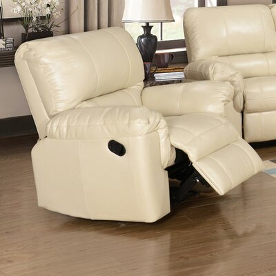Ramon Manual Recliner Upholstery: Cream
