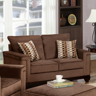 Opulence Loveseat Upholstery: Brown