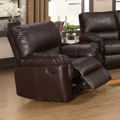 Ramon Manual Recliner Upholstery: Brown