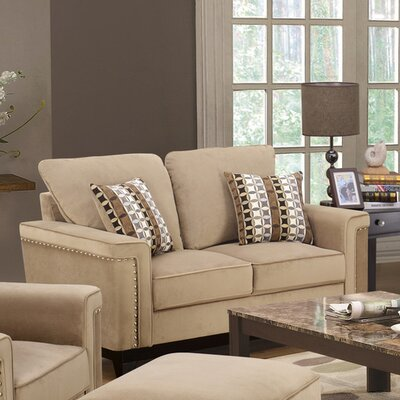 Opulence Loveseat Upholstery: Taupe