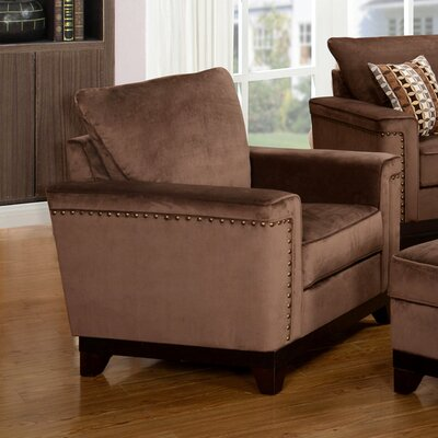 Opulence Armchair Color: Brown