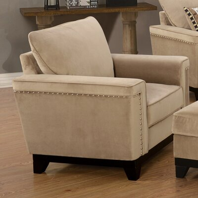 Opulence Arm Chair Color: Taupe
