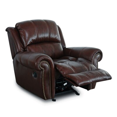Gretna Manual Glider Recliner Upholstery: Burgundy