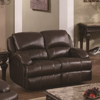 Elwin Recliner Reclining Loveseat Upholstery: Brown