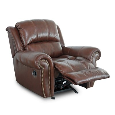 Gretna Manual Glider Recliner Upholstery: Brown