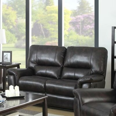 Galaxy Reclining Loveseat Upholstery: Brown