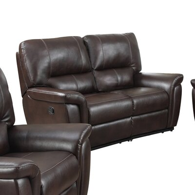 Galaxy Reclining Loveseat Upholstery: Burgundy