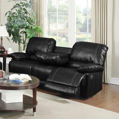 Dalton Reclining Sofa Upholstery: Black