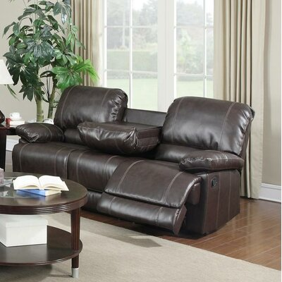 Dalton Reclining Sofa Upholstery: Brown