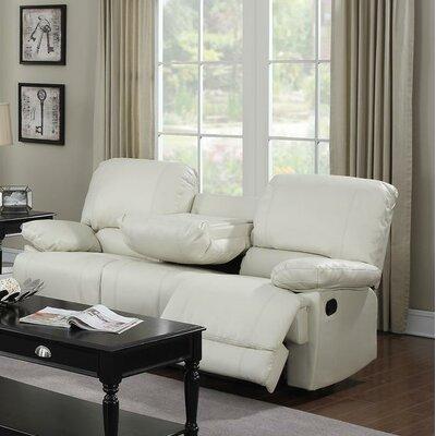 Dalton Reclining Sofa Upholstery: Cream
