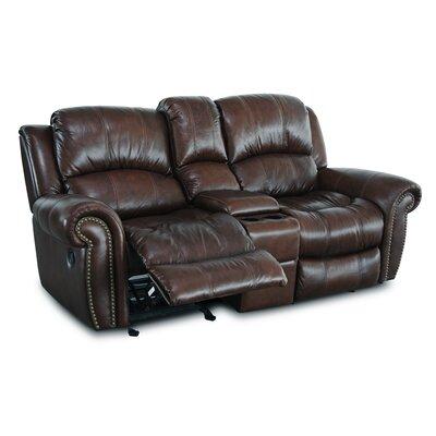 Gretna Glider Reclining Sofa Upholstery: Burgundy