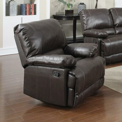 Dalton Manual Recliner Upholstery: Brown