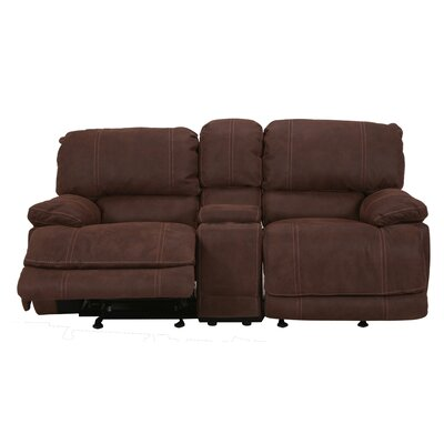 Rankin Upholstered Power Reclining Sofa Upholstery: Brown
