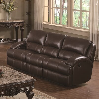 Elwin Reclining Sofa Upholstery: Brown