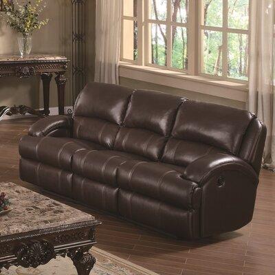 Capri Reclining Sofa Upholstery: Brown