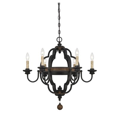 Allocca 6-Light Candle-Style Chandelier