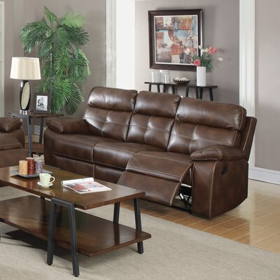 CST39651 28185196 CST39651 Wildon Home Damiano Motion Leather Reclining Sofa