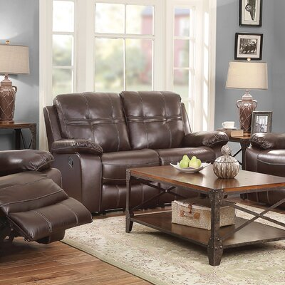 CST39657 28185202 CST39657 Wildon Home Holloway Motion Leather Reclining Loveseat