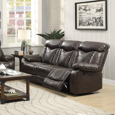 CST39714 28185260 CST39714 Wildon Home Zimmerman Motion Leather Reclining Sofa