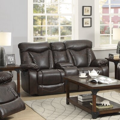 CST39756 28185302 CST39756 Wildon Home Zimmerman Motion Leather Reclining Loveseat