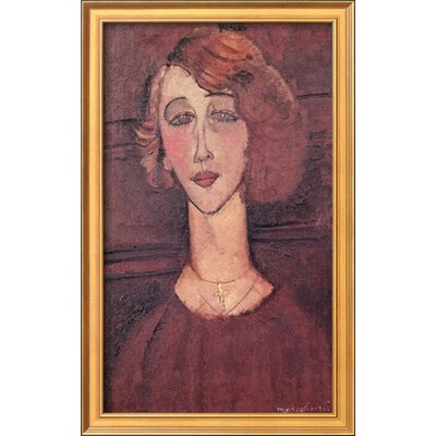 'Renee, 1917' by Amedeo Modigliani Framed Painting Print CST41308 28601994