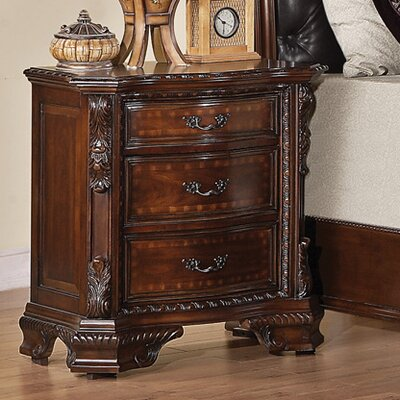 Martone 3 Drawer Bachelors Chest