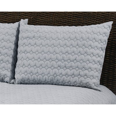 Danaca  Quilted Sham Size: King, Color: Light Gray
