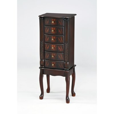 Elegant 40 Jewelry Armoire with Mirror