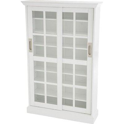 Constance Sliding Door Multimedia Cabinet in White