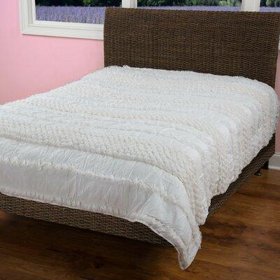 DAna 4 Piece Quilt Set Size: Twin, Color: Ivory