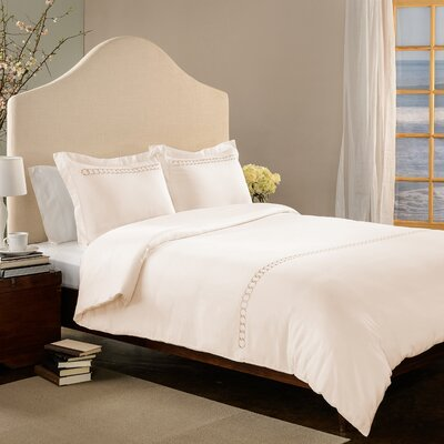Rings 3 Piece Duvet Set Size: King, Color: Ivory/Gold