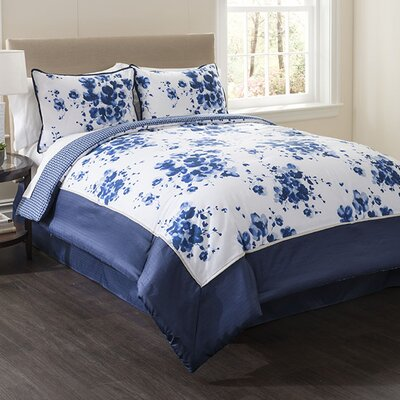Indigo 4 Piece Full Comforter Set Size: Full