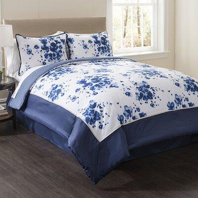 Indigo 4 Piece Full Comforter Set Size: King