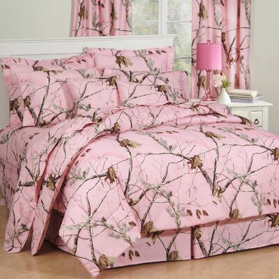Camo Comforter Set Size: Queen, Color: Pink